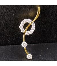 จี้ เพชร กระจุกกลม ฝังเพชร 11 เม็ด 0.36 กะรัต ทอง18K งานสวย น่ารักมาก นน. 1.88 g