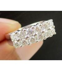 แหวน เพชร 2 แถว เพชร 12 เม็ด 0.81 กะรัต ทอง90 เพชรสวย เล่นไฟ วิ้ง วิ้ง นน. 4.70 g