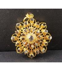 จี้ อุบะ เพชรซีก ฉลุลาย ตุ้งติ้ง ทอง90 แบบงานโบราณ สวยมาก นน. 5.51 g