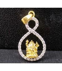 จี้ พระพิฆเนศวร เนื้อทองคำ ฝังเพชร 34 เม็ด 0.18 กะรัต นน. 1.93 g