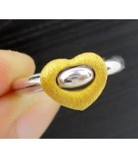 แหวน PRIMA GOLD ทอง24K รูปหัวใจ 2 กษัตริย์ งานสวย น่ารักมาก นน. 3.35 g