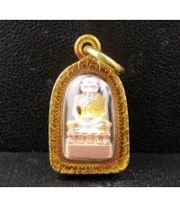 พระหลวงปู่ทวด ลอยองค์ เนื้อเงิน 3 กษัตริย์ เลี่ยมทองเก่า นน. 5.34 g