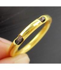 แหวน หางช้าง ทอง90 งานเก่า หลุดจำนำ หายาก Size 57 นน. 2.00 g