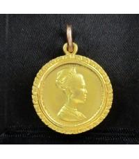 เหรียญ ทองคำ ราชินี 3 รอบ ปี 2511 หลังเหรียญ 300 บาท เลี่ยมทองเก่า นน. 10.10 g