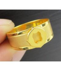 แหวน อักษร O ทอง90 งานเก่า หลุดจำนำ สวยมาก นน. 3.09 g