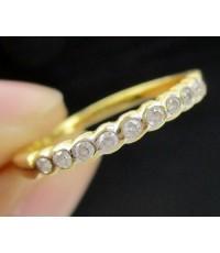 แหวน เพชรแถว ตาม้า 9 เม็ด 0.12 กะรัต ทอง18K งานสวย น่ารักมาก นน. 1.42 g
