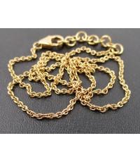 สร้อยคอ อิตาลี750 ทอง18K ลายห่วงโซ่สี Pink gold หลุดจำนำ นน. 5.45 g