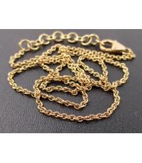 สร้อยคอ อิตาลี750 ทอง18K ลายห่วงโซ่สี Pink gold หลุดจำนำ นน. 5.56 g