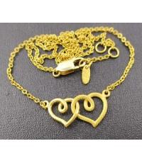สร้อยคอ Gold Master ทอง24K ลายหัวใจคู่ งานสวย น่ารักมาก นน. 6.46 g