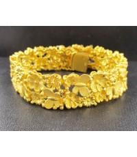 สร้อยข้อมือ Prima Gold ทอง24K ฉลุลาย ผีเสื้อ ดอกไม้ รอบเส้น งานสวยมาก นน. 76.87 g