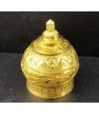 ผอบ ทองคำ 90 ใส่พระบรมธาตุ งานดุนลาย สวยมาก นน. 15.20 g