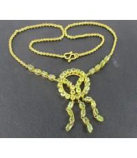 สร้อยคอ เขียวส่อง จันทบุรี สีสวยหวาน ทอง90 งานเก่า หลุดจำนำ สวยมาก นน. 18.03 g