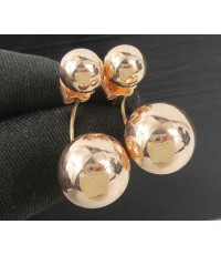 ตุ้มหู เม็ดกลม Dior ทอง9K Pink gold งานสวย น่ารักมาก นน. 6.09 g