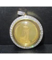เหรียญทองคำ พระศรีศากยะทศพลญาณ ประธานพุทธมณฑลสุทรรศน์ 50 ปี กาญจนาภิเษก เลี่ยมทอง ฝังเพชร 44 เม็ด 2.