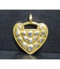 จี้ หัวใจ ฝังเพชรซีก ทอง90 งานเก่า หลุดจำนำ สวยมาก นน. 6.86 g