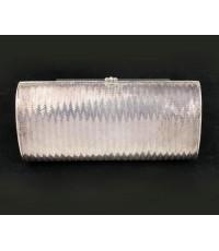 กระเป๋า เงิน925 ลายถักสาน ดุนลายข้าง งานเก่า ละเอียด สวยมาก นน. 426.38 g