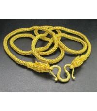 สร้อยคอ ทอง99.99 มังกรคู่ ลายทางมะพร้าว ทองเก่า งานโบราณ นน. 58.34 g
