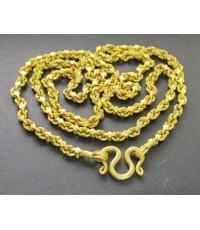 สร้อยคอ ทอง100 ลายดอกหมาก ทองเก่า งานโบราณ นน. 59.38 g