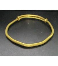 กำไล ทอง99.99 ลายเกลี้ยง ปรับเลื่อนขนาดได้ ทองเก่า งานโบราณ นน. 38.36 g
