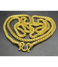 สร้อยคอ ทอง100 ลายเกล็ดมังกร ทองเก่า งานโบราณ นน. 43.60 g