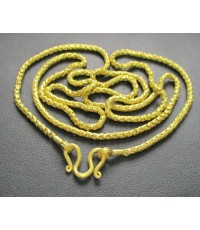 สร้อยคอ ทอง100 ลายเกล็ดมังกร ทองเก่า งานโบราณ นน. 30.40 g