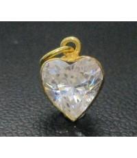 จี้ หัวใจ พลอยขาว ทอง90 งานสวย น่ารักมาก นน. 0.66 g