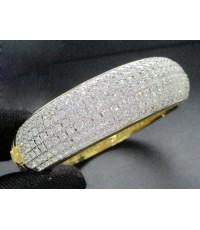 กำไล เพชรรอบ เพชร 532 เม็ด 22.50 กะรัต ทอง90 เพชรขาว สวยมาก นน. 57.14 g