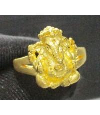 แหวน พระพิฆเนศ ทอง99.99 งานสวย น่าเก็บสะสม size 52 นน. 7.60 g