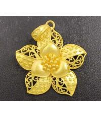 จี้ ดอกไม้ ฉลุลาย ทอง99.99 ทองเก่า งานโบราณ สวยมาก นน. 13.92 g