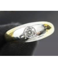 แหวน เพชรเดี่ยว 0.20 กะรัต ตัวเรือน Platinum PT1000 หลุดจำนำ งานสวยมาก นน. 10.14 g