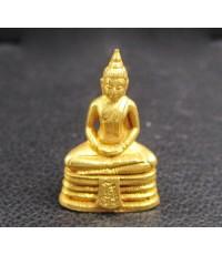 พระหลวงพ่อโสธร ลอยองค์ เนื้อทองคำ ปี 2533 สวยน่าสะสม นน. 3.60 g