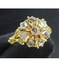 รหัสสินค้า: 50685 แหวน เพชรซีก กระจุกกลม ทอง90 งานเก่า หลุดจำนำ สวยมาก นน. 6.08 g