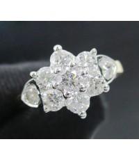แหวน เพชร กระจุกพิกุล 9/0.76 ct  ทอง90 เพชรสวย เล่นไฟ วิ้ง วิ้ง นน. 4.00 g