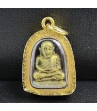 พระหลวงพ่อเงิน บางคลาน กะไหล่ทอง เลี่ยมทองเก่า นน. 6.59 g
