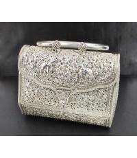 กระเป๋า เงิน925 งานตอก ดุนลาย ช้าง ดอกไม้ งานขึ้นมือ ละเอียด สวยมาก นน. 618.80 g