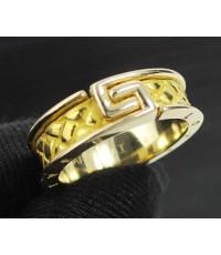 แหวน Gold Master ทอง24K + 18K ลาย FOREVER LOVE 2 กษัตริย์ งานสวยมาก นน. 8.22 g