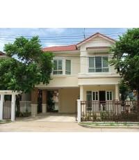 (บ้านเช่าไปแล้ว) บ้านเช่ารังสิต / บ้านสวยให้เช่า ราคาถูก หมู่บ้านมณีรินทร์ พาร์ค-รังสิต บ้านใหม่ ร่ม