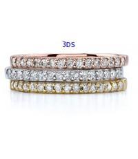 แหวนทองคำแท้ประดับเพชรรัสเซียคุณภาพสูง เป็นของขวัญ ทั้งวันเกิด วันครบรอบ วันแต่งงาน