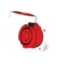 [I201] POWER PLUG STRAINGHT PANEL SOCKET IP67 เต้ารับฝังผนังหน้าตรงกันน้ำ AJ-4252 ราคา 192.05 บาท