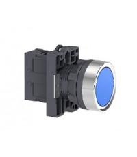 [S16] Schneider Electric XA2 สวิตช์ปุ่มกดØ 22มม. แบบพลาสติก XA2EH061 สีน้ำเงิน ราคา 75 บาท
