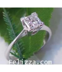 แหวนเพชรแท้สี่เหลี่ยม RI00402-157(พร้อมใบเซอร์ GIA) (ENHZO)