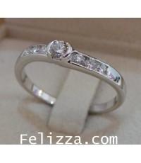 แหวนเพชรแท้เบลเยี่ยมคัท RI00226-55 (DNFX)