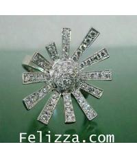 แหวนเพชรแท้เบลเยี่ยมคัต RI00432-184 (HEKO)