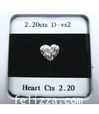 เพชรหัวใจใบเซอร์ GIA (D-S0006)