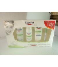 ชุด สีเขียวกันยา Eucerin Dermo Purifyer Cleanser + Hydrating Care + Night Care Free Stick