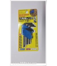 ชุดหกเหลี่ยม Sahoo Hex key wrench (ปะแจ 6 เหลี่ยม)