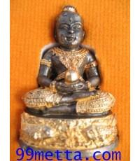 กุมารทองสมปรารถนาเรียกทรัพย์รับโชครุ่น๔ ขนาดห้อยคอ เนื้อทองผสมเหล็กตะแกรงเผาศพปิทอง  อ.สรรค์ คงเวทย์