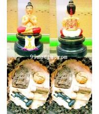 กุมารทองพนมมือ ขนาดบูชา เนื้อแร่เพ้นสี ลพ.สามชัย วัดดอนกระดี่ อ่างทอง