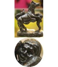 ม้าเสพนาง เนื้อสำฤทธิ์รมดำ รุ่นมั่งมีเงินทอง 2549 ลป.คีย์ กิตติญาโณ วัดศรีลำยอง