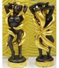 นางพญาจิ้งจอก9หางเนื้อสัมฤทธิ์ปิดทอง รุ่นกำเนิดกุมารทอง ลป.เณรแก้วคัมภีโร